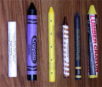 Crayons wrapped with Crayon Labeler